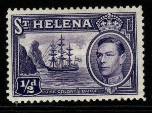 ST.HELENA SG131 1938 ½d VIOLET MTD MINT