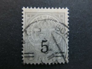 A4P27F107 Letzebuerg Luxembourg 1916-24 surch 5c on 1c used