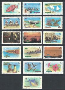 Anguilla Birds Fishes Scenery Definitives 16v SG#485-500 CV£50+