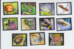 2007-10 Canada Beneficial Insects Complete Set (Scott 2234-38, 2328, 2406-10)MNH