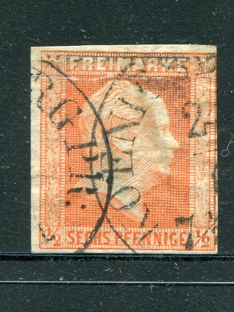 Prussia #10  used  VF CDS  tear - Lakeshore Philatelics