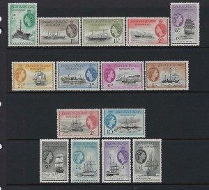 FALKLAND IS. DEPENDENCIES- SCOTT# 1L19-1L33 1954 QEII SET- MINT NEVER HINGED