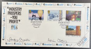 GB #1129-1132 Used VF/XF - First Day Cover - Industry Matters 1986 [CVR205]