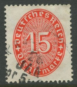 STAMP STATION PERTH Germany #O73 Official Issue Used 1927