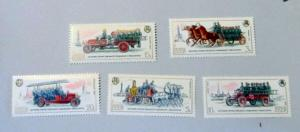 Russia - 5319-23, MNH Set. Fire Vehicles. SCV - $1.65