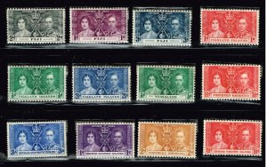 UK STAMP 1937 Coronation ISSUE COLLECTION LOT MNH/OG STAMP COLLECTION LOT #S2