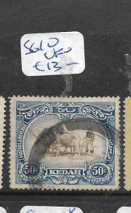 MALAYA KEDAH (P1006B) COW 50C   SG 10   VFU