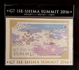 JAPAN 2016 G7 Gipfel Summit - Seidenblock - Hologramm - Silk Soie Mi Block 265**