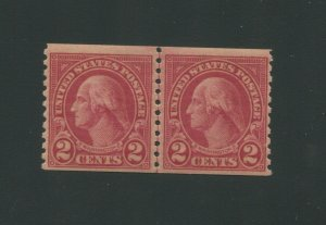 United States Postage Stamp #599A MNH VF Joint Line Pair PF Certified