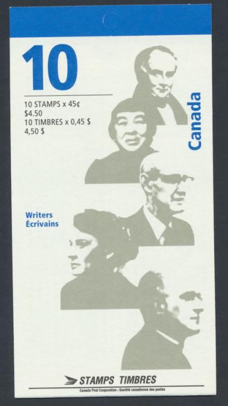 Booklet SG SB209  SC# BK195b Famous Authors  - please read details