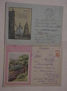 RUSSIA  PICTORIAL ADS 1953 REGISTERED 1962