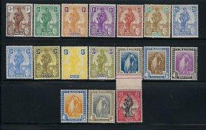 MALTA SCOTT #98-114 1922-26 MALTA/BRITANNIA ALLEGORY- MINT LH (ONE POUND NH)