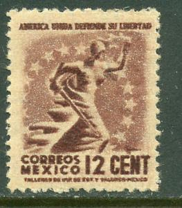 MEXICO 790, 12c Liberty. MINT, NH. F-VF..