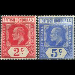 BR.HONDURAS 1909 - Scott# 72-3 King Set of 2 LH