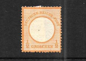 GERMANY  1872  1/2g LARGE SHEILD  MNG  SG 18