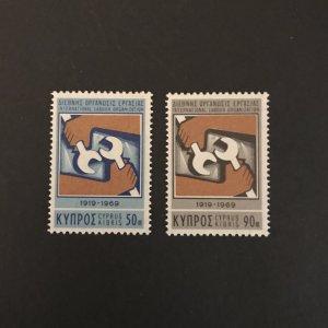 Cyprus 1968 #322-23 MNH Scv $.50