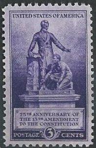 US 902 (mlh) 3¢ 13th Amendment (1940)