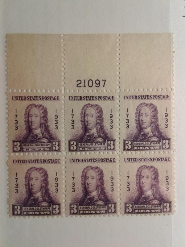 SCOTT # 725 PLATE BLOCK OF 6 # 21097 GEM MINT NEVER HINGED POST OFFICE FRESH