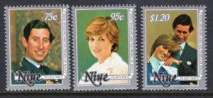 Niue 340-342 MNH VF