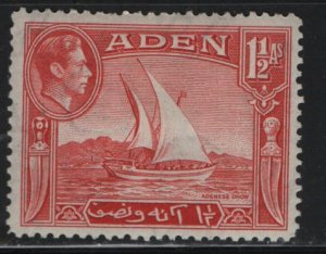 ADEN, 19, HINGED REMNANT, 1939-48 Adenese dhow