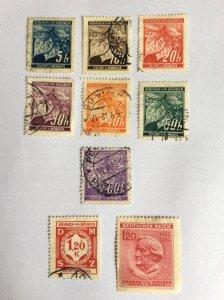 Bohmen und Mahren 1941 9 stamps used and hinged