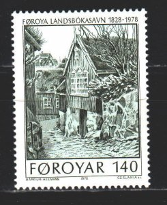 Faroe Islands. 1978. 39 of the series. National library. MNH.