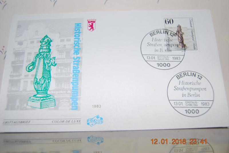 Jan 13th 1983 Germany Berlin First Day Cover FDC Ersttagsbrief