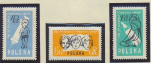 Poland Stamps Scott #1024 To 1026, Mint Hinged, UNICEF