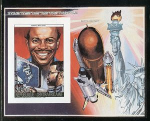 CENTRAL AFRICA  SPACE SHUTTLE CHALLENGER MEMORIAL DELUXE IMP S/S SET  MINT  NH