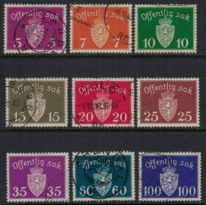 Norway #O22-7,9,31-2  CV $15.70