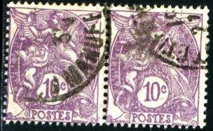FRANCE #115 , USED PAIR - 1929 - FRAN137NS9