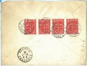 70033 - POLAND - POSTAL HISTORY - REGISTERED COVER from BUCZACZ to France 1934