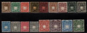 $British East Africa Sc#14-30 M/H/F-VF, complete set, 24 str. edge, Cv. $759.25
