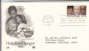 1985, Help End Hunger, Artcraft/PCS, FDC (E8214)