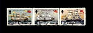 Isle of Man  255-58 1984 3 different ships Mint NH PD