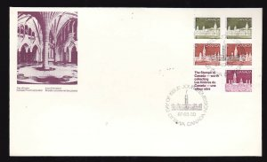 Canada-Sc#948a-stamps on FDC-Parliament-Booklet Pane-1987-