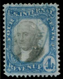 R106 US 4c Second Issue, used cv $85