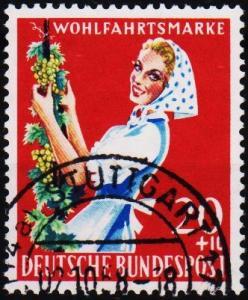 Germany. 1958 20pf+10pf  S.G.1216 Fine Used