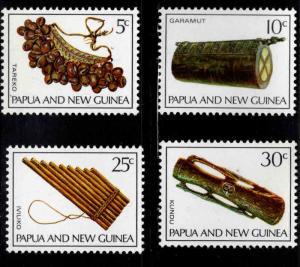 PNG Papua New Guinea Scott 293-296 MNH** musical insturment set