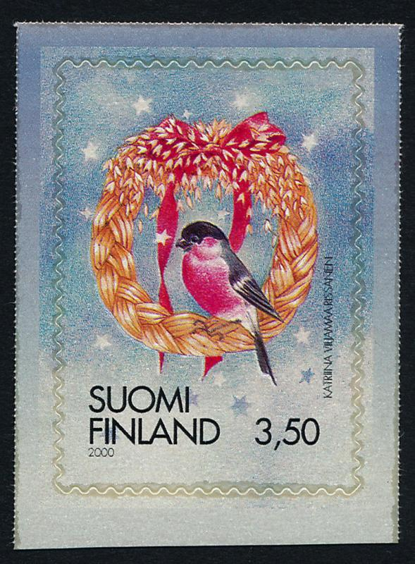 Finland 1145 MNH Christmas, Bullfinch on door ornament, Bird