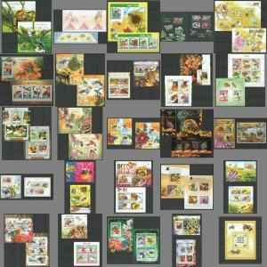 KS 2010-2016 INSECTS FAUNA HONEY BEES 25KB+24BL MNH STAMPS