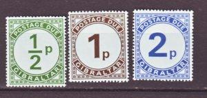 J22185 Jlstamps 1971 gibraltar set mnh #j4-6 postage dues