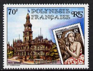 French Polynesia 1980 \'Sydpex 80\' Stamp Exhibition 70f ...
