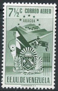 Venezuela Scott C402 Unused VFHOG - Arms of Aragua and Farm - SCV $2.25