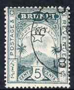 Brunei 1895 Star & Local Scene 5c deep blue-green cds...