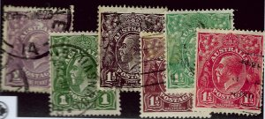 Australia Scott #22, 23, 24, 24a, 25&26 Used F-VF....Buy before prices go up!