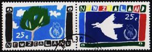 New Zealand. 1986 25c(Pair) S.G.1393/1394  Fine Used