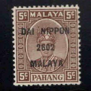 MALAYA Pahang Scott N14 MH* Japanese Occupation overprint
