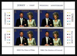Jersey-SC#1214-sheet-unused-NH-Charles 1st Wedding-Royalty-
