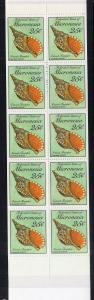 Micronesia 88a Seashells Booklet MNH VF